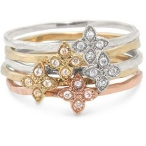 Stella & Dot Moraley Stackable Ring Set
